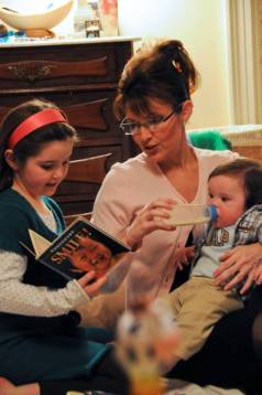 Piper Sarah and Trig - Reading Story and Feeding