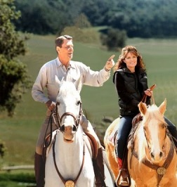 Reagan and Palin on Horseback