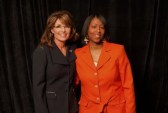Sarah and Adrienne Ross at Heroic Media event