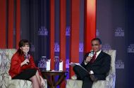 Sarah and Aroon Purie at India Today Conclave