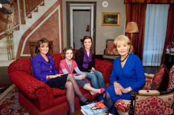 Sarah and daughters on Barbara Walters Show