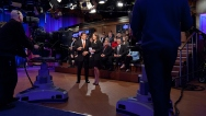 Sarah and Eric Bolling on Set Just Before Start of Pain at the Pump Special