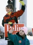 Sarah and Piper Campaigning in Alaska