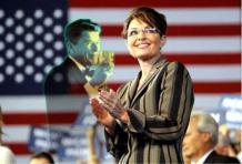 Sarah and Reagan and Flag