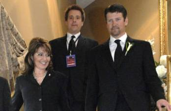 Sarah and Todd Walking Down Stairs on Way to Hamilton Ontario Fundraiser
