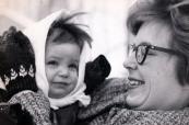 Sarah as toddler and her mother