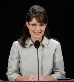 Sarah at RNC emphasis smile