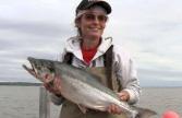 Sarah Holding Big Fish