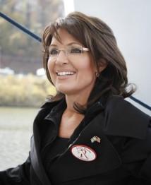 Sarah in black jacket wearing Israeli-American flag pin