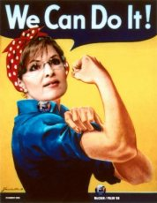 Sarah in We Can Do It Poster