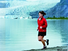 Sarah Jogging in Alaska