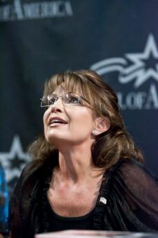 Sarah looking up toward balcony at Bristols MOA book signing