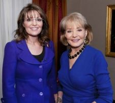 Sarah Palin and Barbara Walters - both in blue