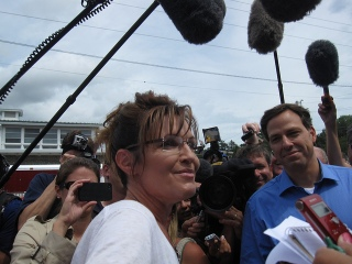 Sarah Palin and Jake Tapper at Iowa State Fair