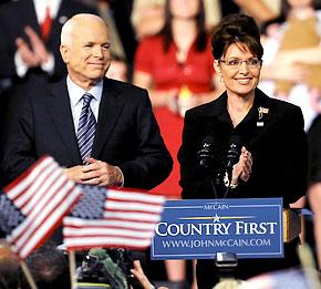 Sarah Palin and John McCain 08-29-08