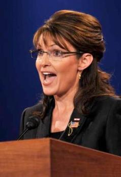 Sarah Palin in Black Jacket Emphasis