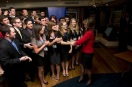 Sarah shaking hands with group of young Republicans at Reagan Ranch