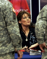 Sarah Signing Copy of Book at Fort Bragg