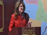 Sarah speaking at Boston Common Tea Party Express Event