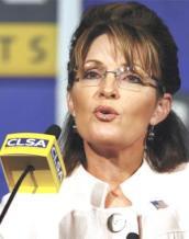 Sarah speaking at CLSA - closeup at mike
