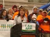 Sarah Speaking at Madison WI Tax Day Tea Party