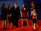 Sarah - Todd - Willow - Piper walk off stage after vice presidential debate