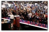 Sarah waving at crowd at 2008 GOP Convention