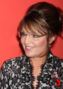 Sarah wearing Israeli-American flag pin at Time 100 gala