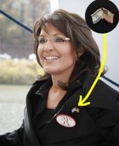 Sarah wearing Israeli-American flagpin in Virginia