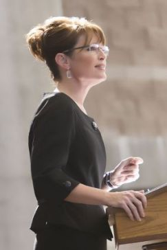 Sarah_Palin_Stimulus_rejected_in black dress at podium