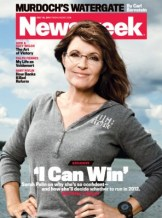 Sarahh in running outfit on Newsweek cover - July 2011