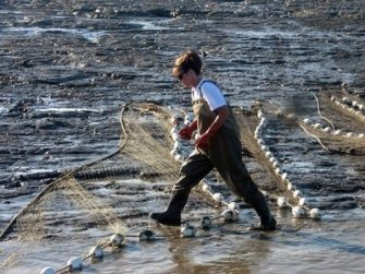 SarahPalin in Waders with Nets