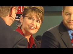 Still of Sarah as governor from Undefeated movie