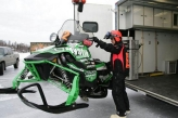 Team 22 Unloading Snow Machines for 2010 Iron Dog Race