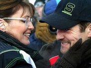 Todd and Sarah after the snowbobile race