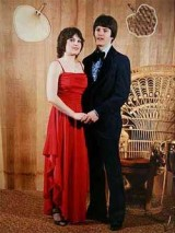 Todd and Sarah at high school prom