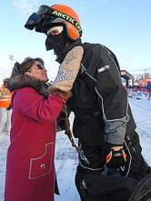 Todd and Sarah before Iron Dog Race