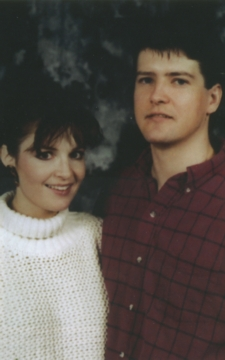 Todd and Sarah - high school age - Sarah in white sweater