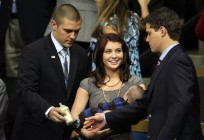 Track - Levi - Willow holding Trig at RNC Convention
