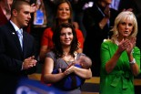 Track - Willow holding Trig - Cindy McCain clapping - RNC Convention