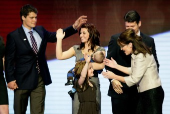 Willow - Piper - Levi - waving - Todd - Sarah - RNC convention