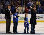 Willow - Piper - Todd - Sarah at St Louis Blues Game