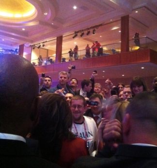 Backstage at CPAC 2012