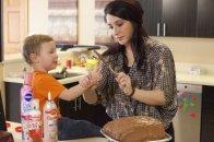 Bristol and Tripp and chocolate cake