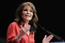 Closeup of Sarah at 2012 CPAC