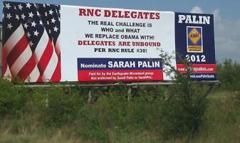 Earthquake Billboard in Texas