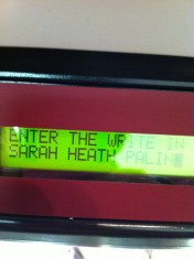JackieSic Write-In Vote for Sarah in Republican Primary