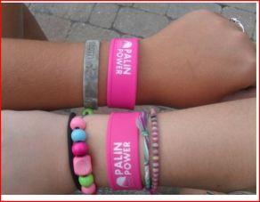 Palin power bracelets