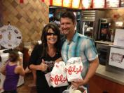 Sarah and Todd at Chick-fil-A in The Woodlands