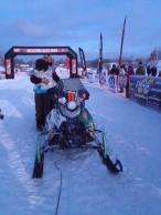 Sarah and Todd hug after Iron Dog Race finish